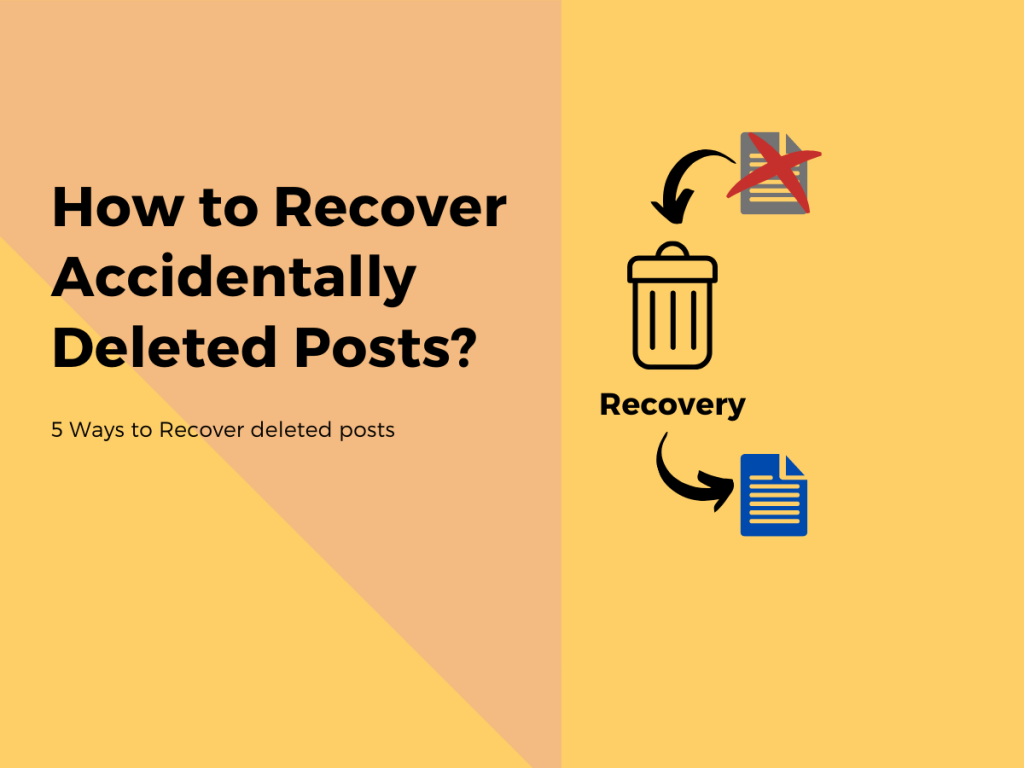 Recover Deleted Posts